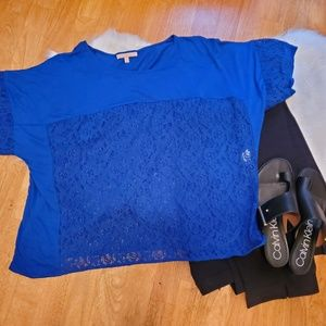 Gibson Latimer Womens Lace Top Large